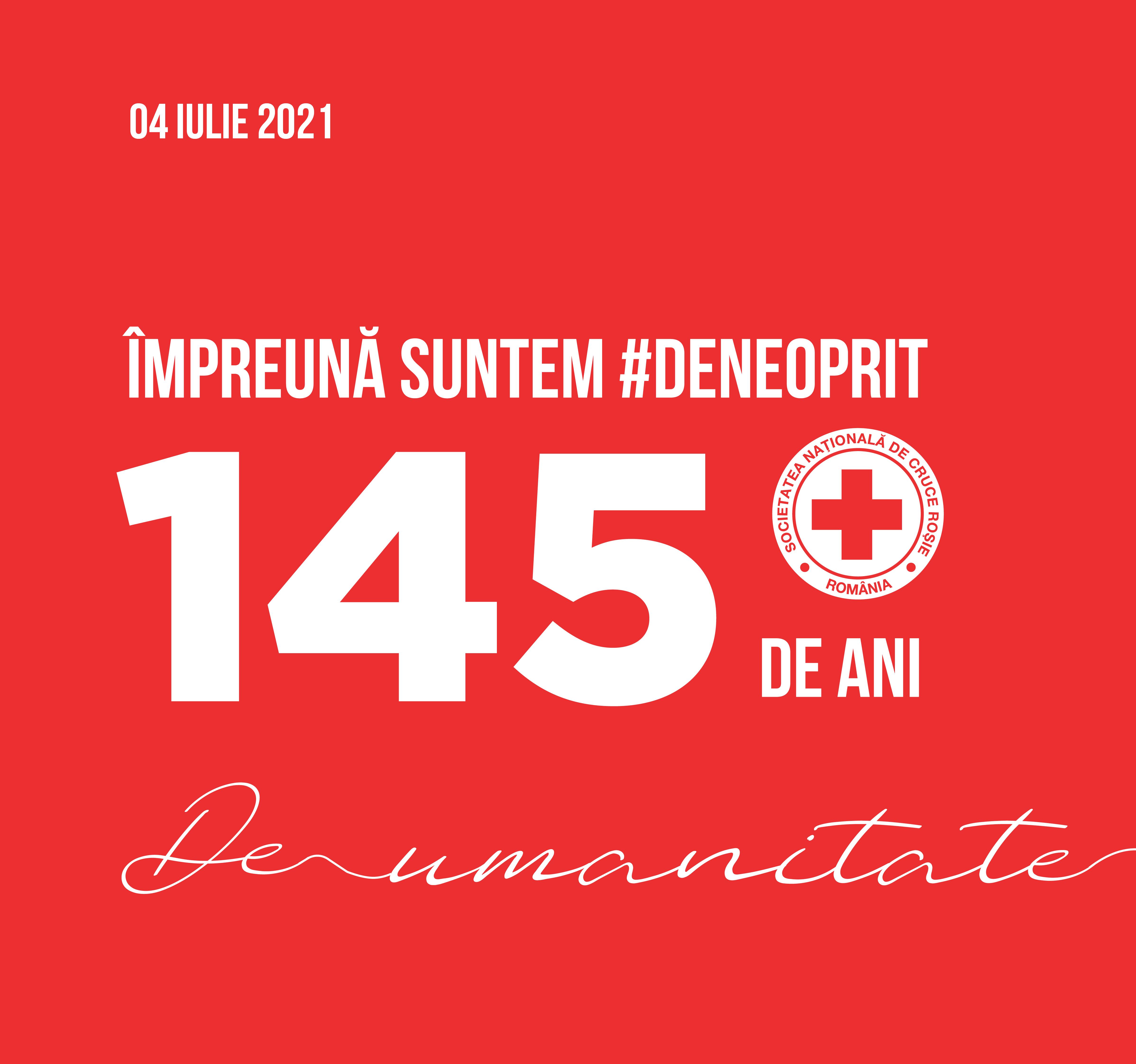 Comunicat de presă: Crucea Roșie Română împlinește 145 de ani de activitate umanitară